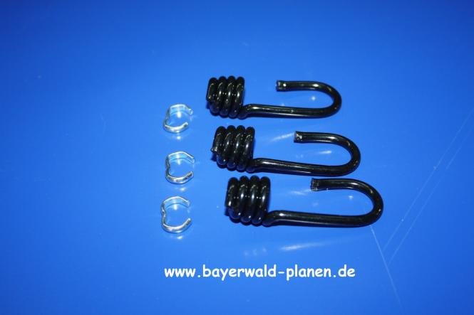 Spiralhaken - kunststoffummantelt - Fb: schwarz